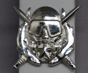 US Army Combat Diver  - bright metal - front