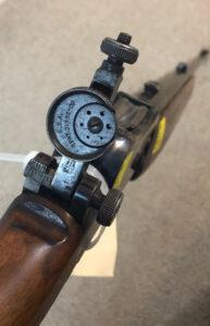 BSA Take-down 22 Canadian issue -BSA rear sight