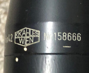 C3 sniper rifle clone CMS Original C2 scope model  KAHLES ZF-69 Serial nur. 158666