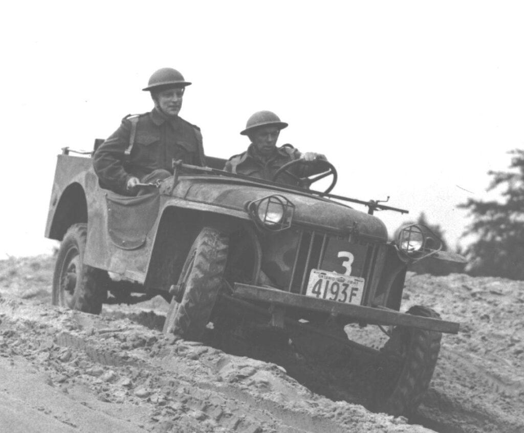 Bantam Car 5 Cwt. being tested in Canada circa 1941.