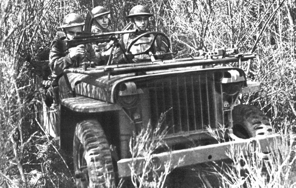 Canadian Contract CDLV-242 WLU-440-M PERS-1 with a Bren Gun Mk.I or Mk. IM. Circa summer of 1942 during training in Canada.