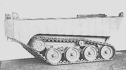 Tracked Jeep Mk. II - left side period photo.