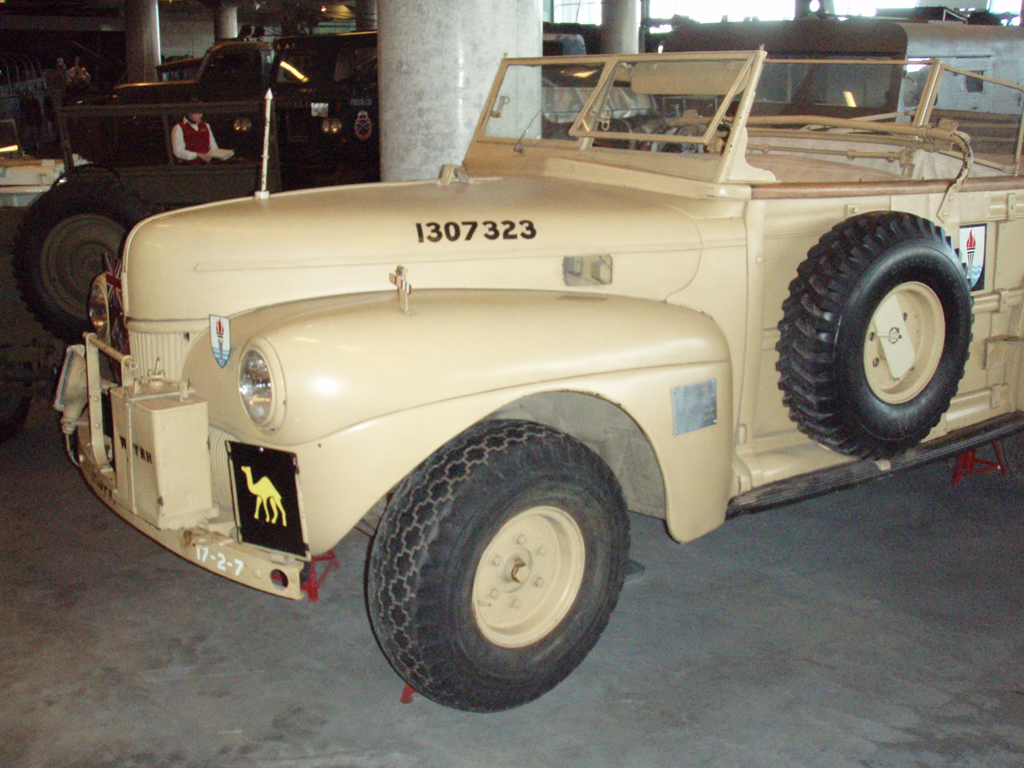 Field Marshall Alexander's staff car used in North Africa. It is a cut-down Canadian Ford station waghon.