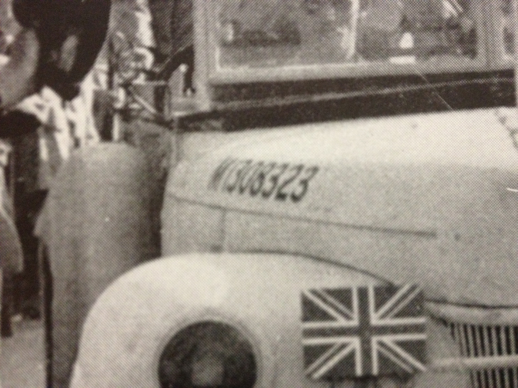 Field Marshall Alexander's staff car WD census number M1308323