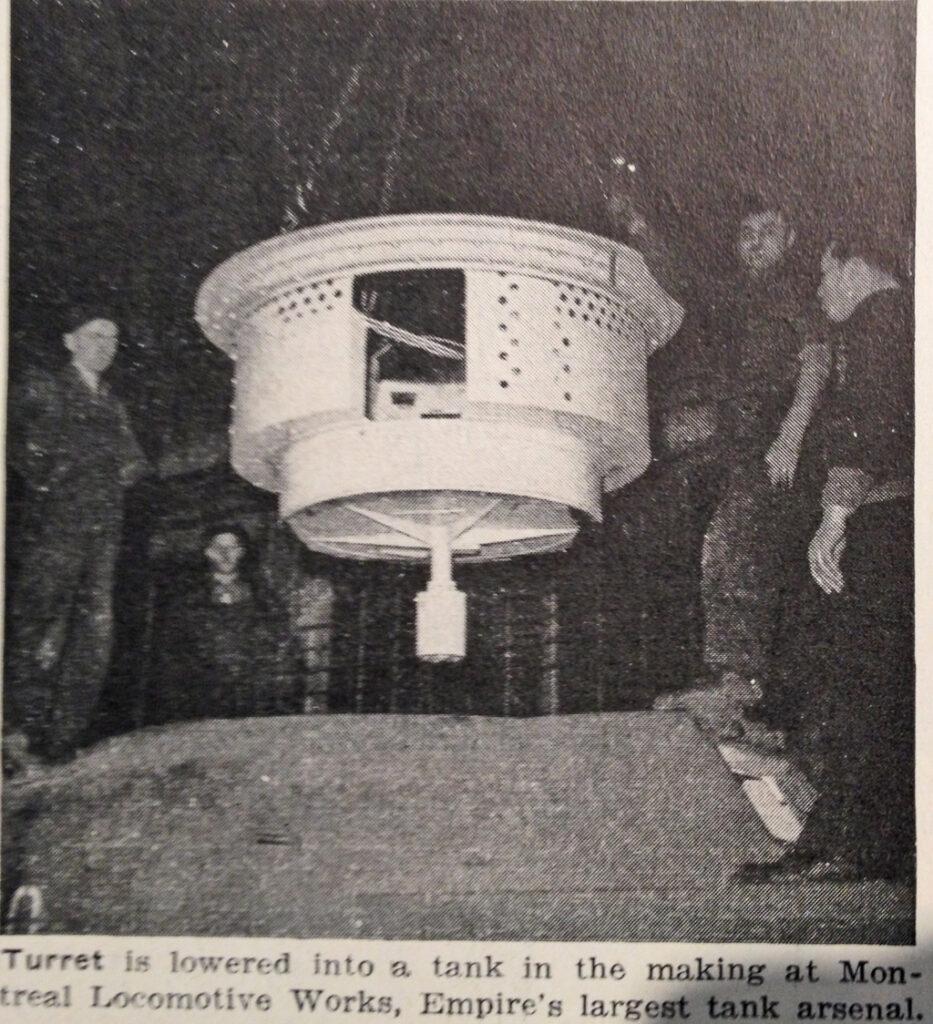 Ram turret being installed