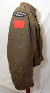 Blouse Battledress Canadian Aug 1 1942 with Seaforth of C insignia ADDED (4)