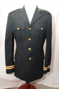 Coat Mans Service Fress Dark Green 1985 CAPTAIN rank (1)