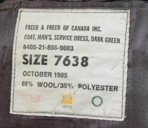 Coat Mans Service Fress Dark Green 1985 CAPTAIN rank (3)
