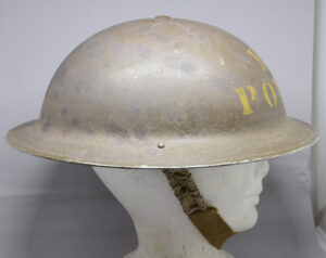 RARE British Columbia Police 1941 helmet CL/C - right side