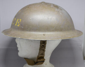 RARE British Columbia Police 1941 helmet CL/C - left