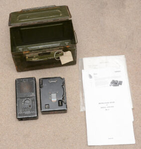 RS-6 radio (2 of 4 units) with 50 cal ammo can and copies of manual.