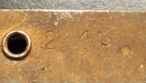 Belt Maxim MG Feb 1918  - date marking