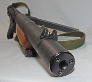 Sterling SMG L34A1 MK 5 silenced - muzzle