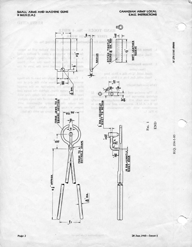 EME instructions for making scope drawings