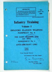 Anti-Aircraft LMG WO Code 8683 1951