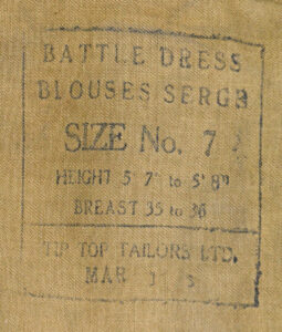 BD Blouse C INT C SEAC Siam Maker's marking