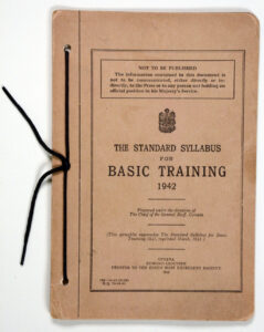 BasicTraining 1942 Canadian Army Sylabus