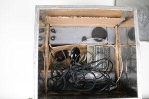 Biscuit Tin Radio SOE MCR1 Type 36-1  - Lid off