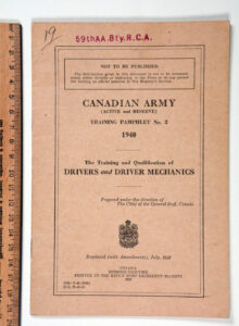Canadian Army Training and Qual Drivers and Driver Mechanics