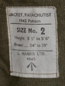 Jacket Parachutist 1942 Pattern sleeveless Label