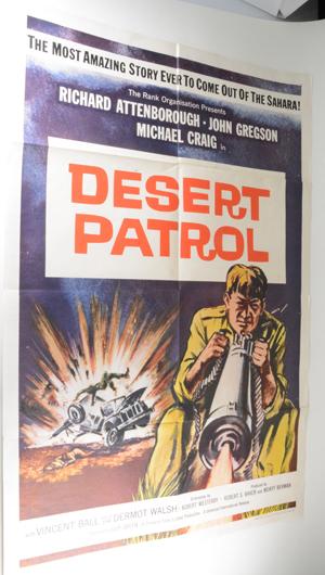 Movie Poster - DESERT PATROL aka SEA OF SAND