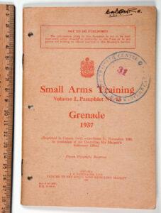 SAT Vol 1 No13 GRENADE 1937 Canadian Army printing 1940