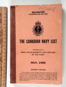 The Canadian Navy List July 1955