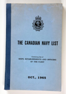 The Canadian Navy List Oct 1965