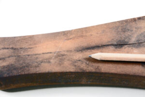Wooden training rifle Canadian issue marked