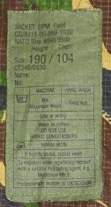 Jacket DPM Field Label