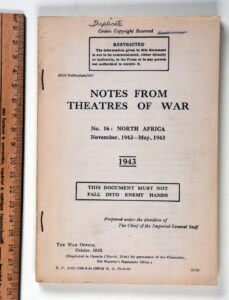 Notes No 16 NORTH AFRICA 1943 Oct 1943