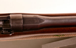Rifle EAL SN 1640 (1) Left side with SN Canadian Arsenals mark