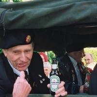 Apeldoorn Veteran with bottle of Dutch beer - 2005