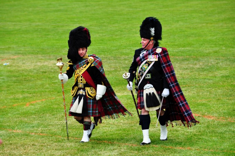 Two Drum Majors at the Highland Games Victoria 2012 May