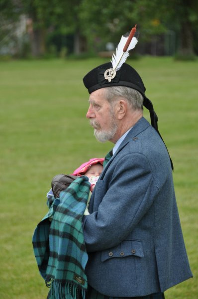 Holding the next generation of his clan at the Highland Games Victoria 2012 May